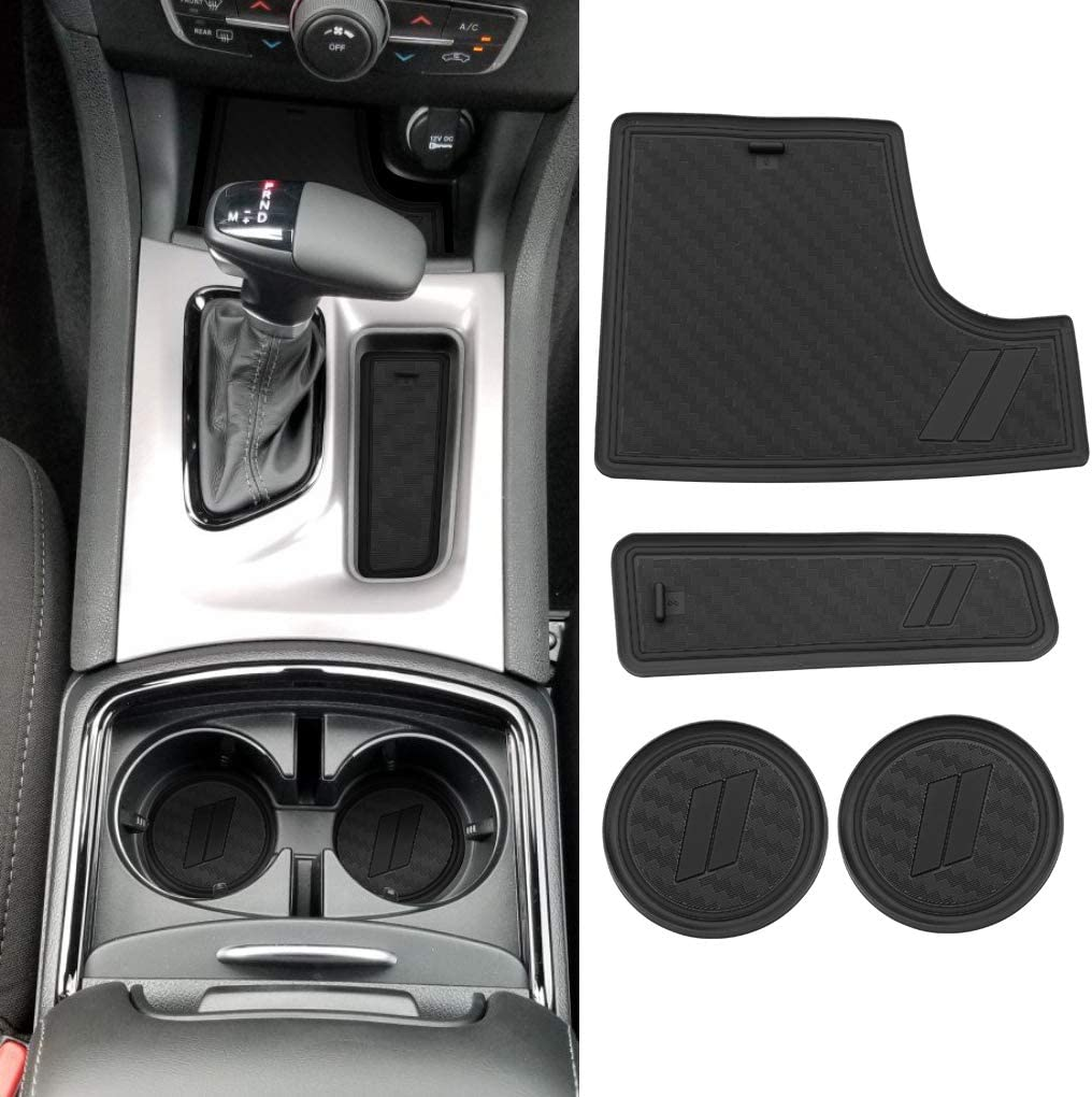 JEYODA Non-Slip Anti-dust Custom Fit Cup Console Liner Accessories for Dodge Challenger 2015 2016 2017 2018 2019-11pcs Set Blue Door