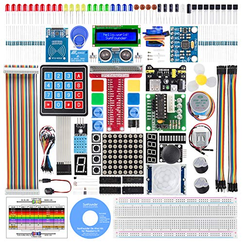 SunFounder Raspberry Pi Starter Kit with Detailed Tutorials Compatible with Raspberry Pi 4 B 3 B+, Support Python C, Learn Electronics and Programming for Raspberry Pi Beginners