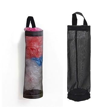 Bolsa de plástico soporte dispensador ShineMe de almacenamiento plegable organizador de malla bolsa de basura bolsas de basura contenedores de reciclaje ...