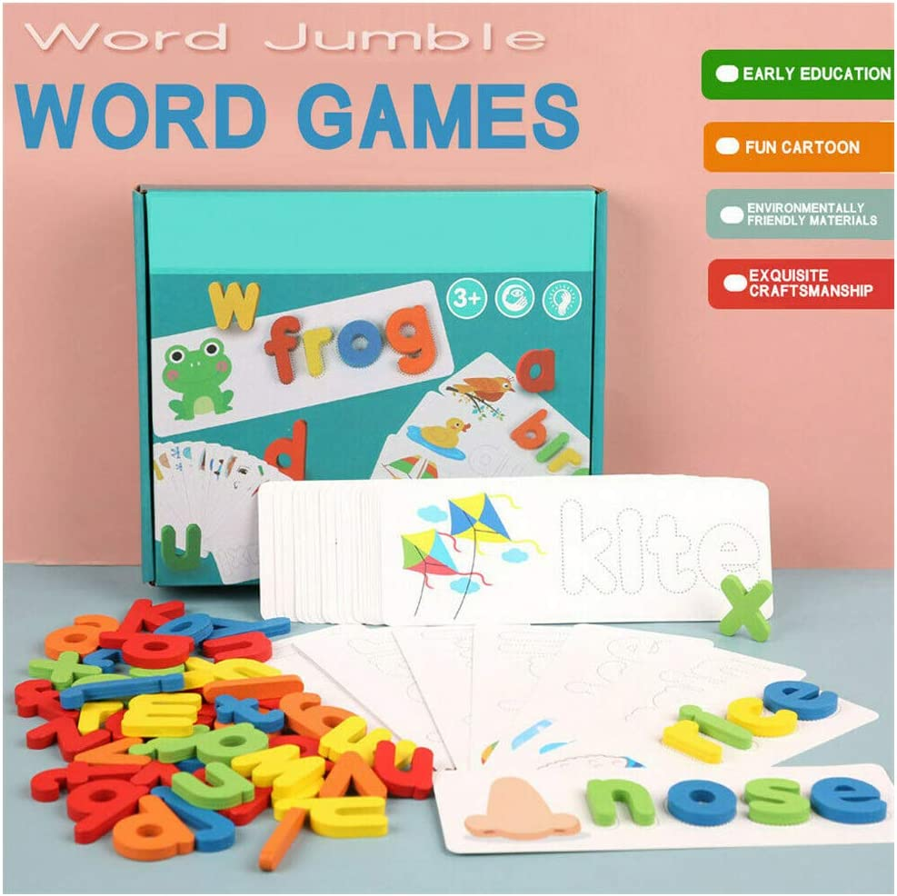 Buy Wooden Cardboard English Spelling Alphabet Game Educational Early  Education Toys - Wooden Toddler Puzzles, Wooden Alphabet Chunky Puzzles  Set, Kids Educational Preeschool Peg Puzzles Online at Low Prices in India -