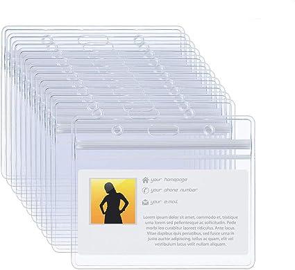 Mostre Visite di Ricevimento Eventi ecc. Integrity.1 Badge Trasparente,100 Pezzi Nome Orizzontale Tag,Etichetta Orizzontale in Plastica,per Lavoro