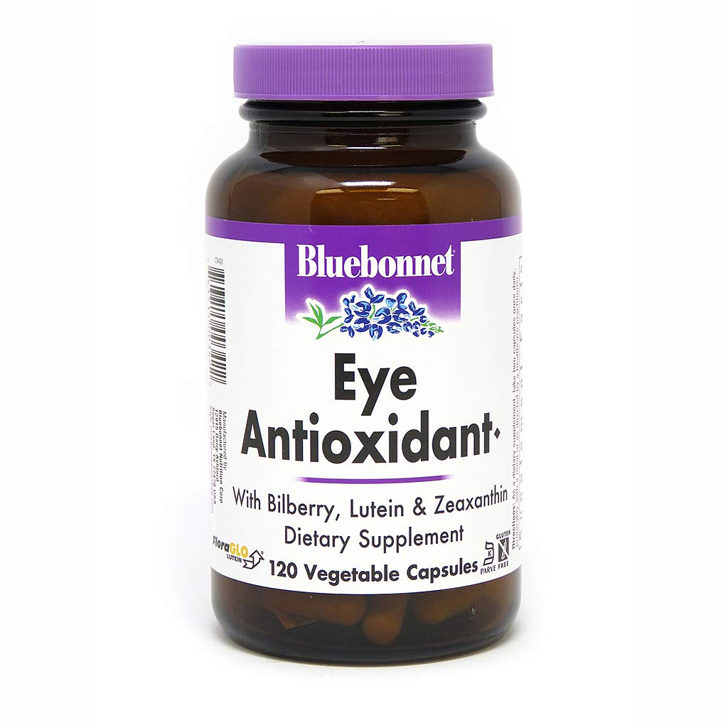 BlueBonnet Eye Antioxidant with Zeaxanthin Formula Vegetarian Capsules, 120 vcaps