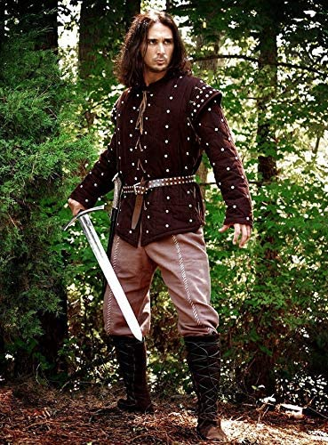 Gambeson Padded Medieval Celtic Viking Armor SCA LARP Full Sleeveless Armour