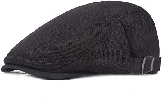 Men/'s Breathable Hat Mesh Beret Newsboy Ivy Hiking Cabbie Flat Gatsby Summer Cap