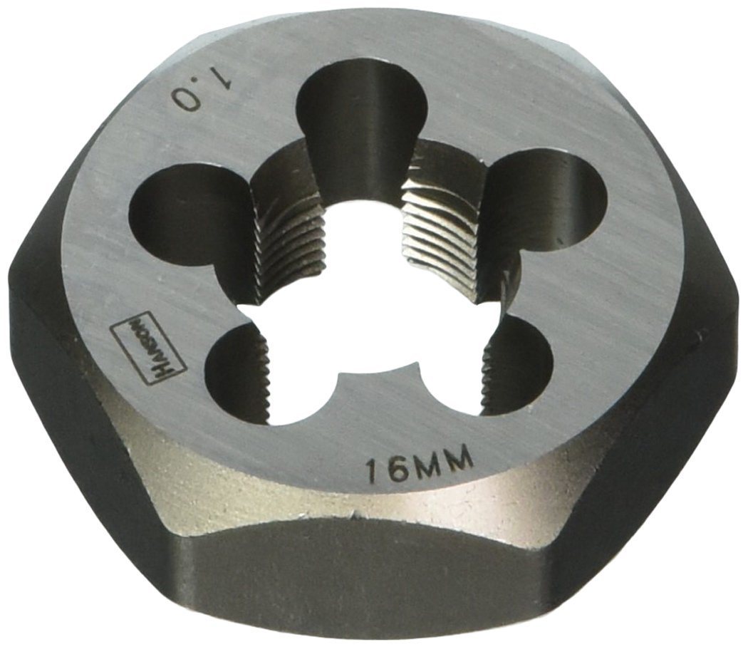 Irwin Tools 6954 Irwin High Carbon Steel Metric Hexagon Dies - Die 16mm-1.0 1-7/16 S.H.