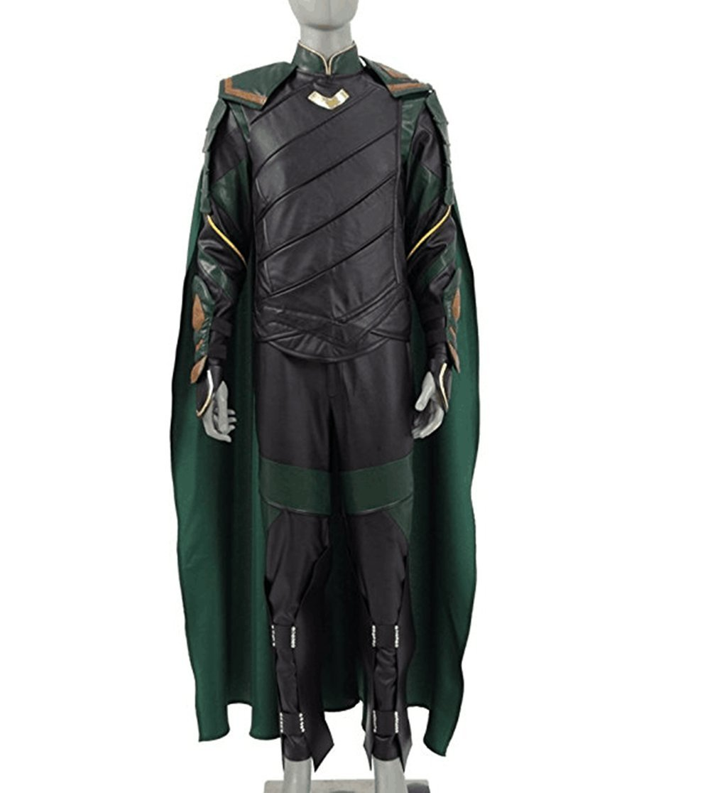 Expeke Halloween Costumes Loptr Cosplay Leather Armor Battle Outfit for Men (XXL, Green)