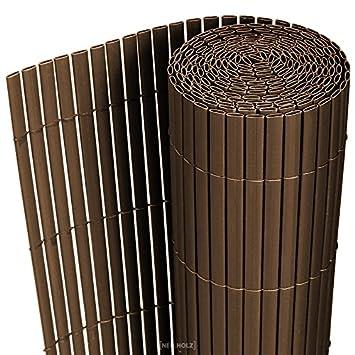 Sichtschutzzaun Aus Kunststoff Gute Alternative Holzzaun , Neu Haus] Pvc Sichtschutzmatte 200x300cm Braun Sichtschutz