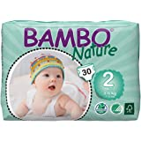 Bambo Nature Premium Baby Diapers - Small Size, 30 Count, for Infant (1-3 Months) - Super Absorbent and Eco-Friendly