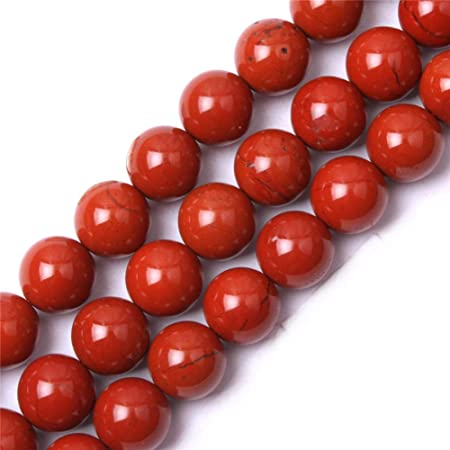 Gem Inside Natural 12mm Red Jasper Round Gemstone Semi Precious Loose Beads For Jewellery Making 15 Amazon Co Uk Kitchen Home