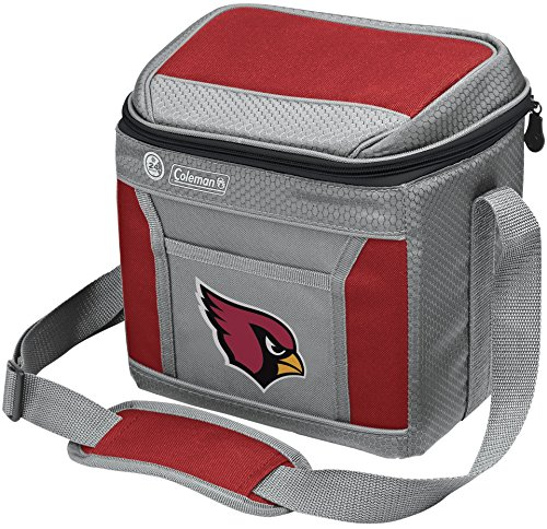 Coleman NFL Soft-Sided Insulated Cooler Bag, 9-Can Capacity with Ice, Arizona Cardinals