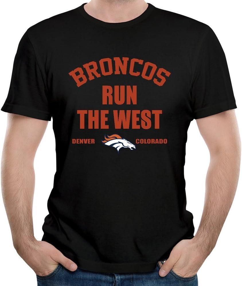 Denver Colorado Broncos Run a la West de hombre camisas Vintage: Amazon.es: Ropa y accesorios