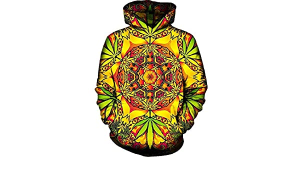 Chiclook Cool 3D Hoodies Psychedelic Weed Men Women 2018 Long Sleeve Autumn Hooded with Hat Sudaderas Hombre Brand Tracksuit Sweatshirts at Amazon Mens ...