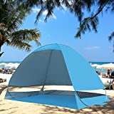 Boxwind Outdoor Automatic Pop up Instant Portable Cabana Beach Tent 2-3 Person Camping Fishing Hiking Picnicing Protective Anti UV Beach Tent Sun Shelter Canopy Quick Set Up