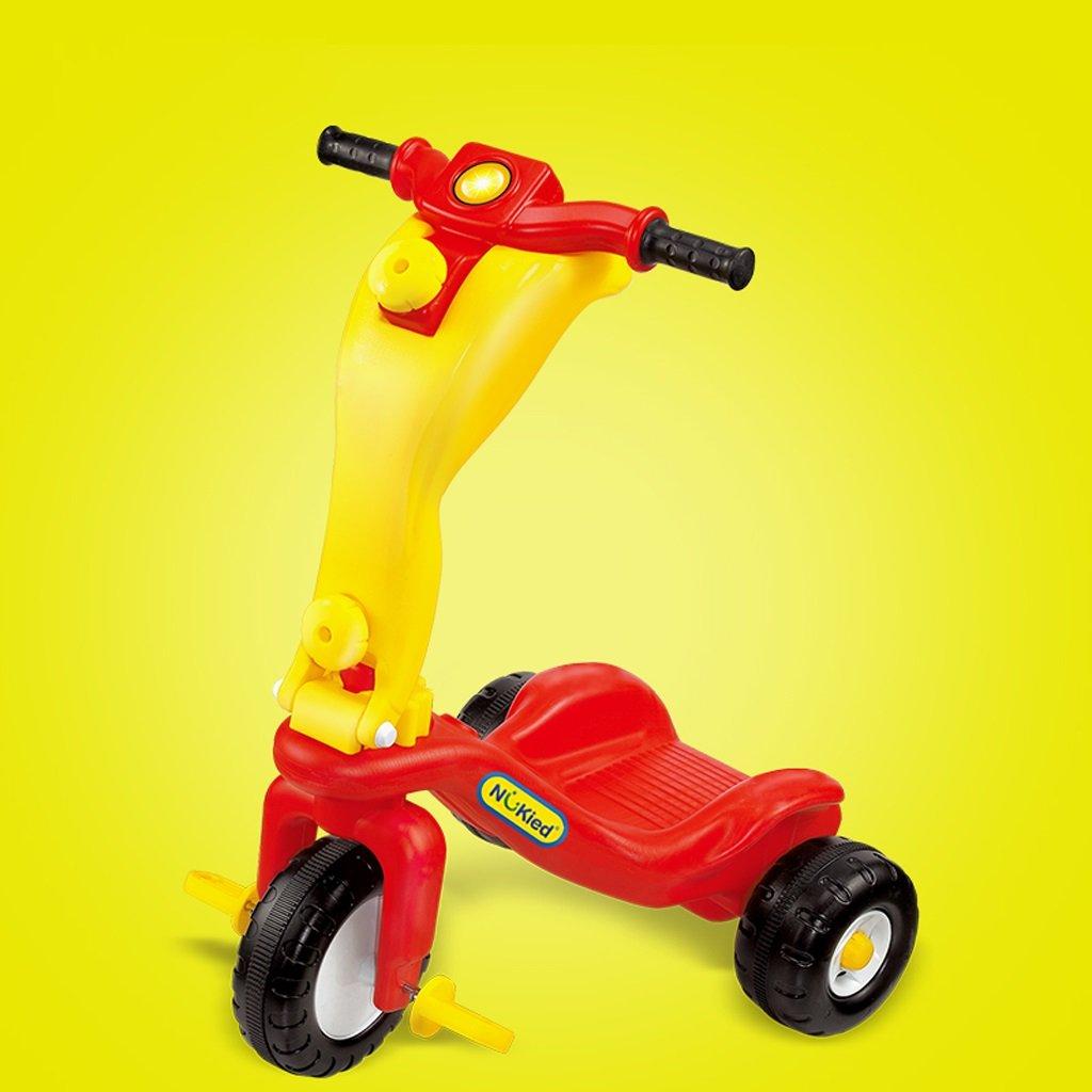 子供用三輪車、スクーター、ベビー用自転車、自転車、1-7歳、無毒ポリエチレン ( Color : Red ) B07BK4D8TQRed