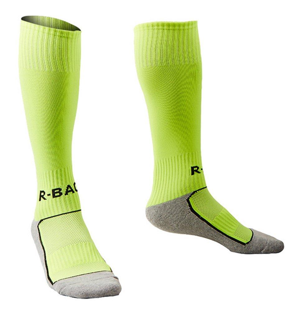 Little Boys Girls Soccer Socks Lime Green XS by KALAKIDS