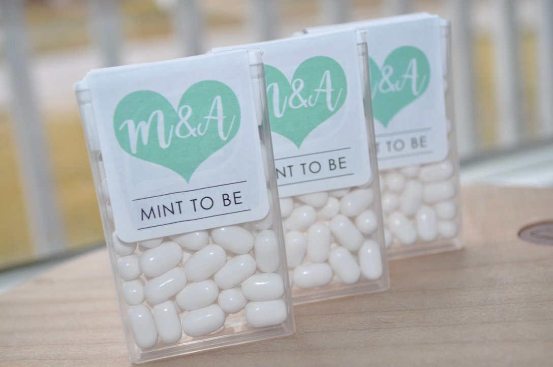 Amazon Mint To Be Tic Tac Labels Bridal Shower Favors Wedding