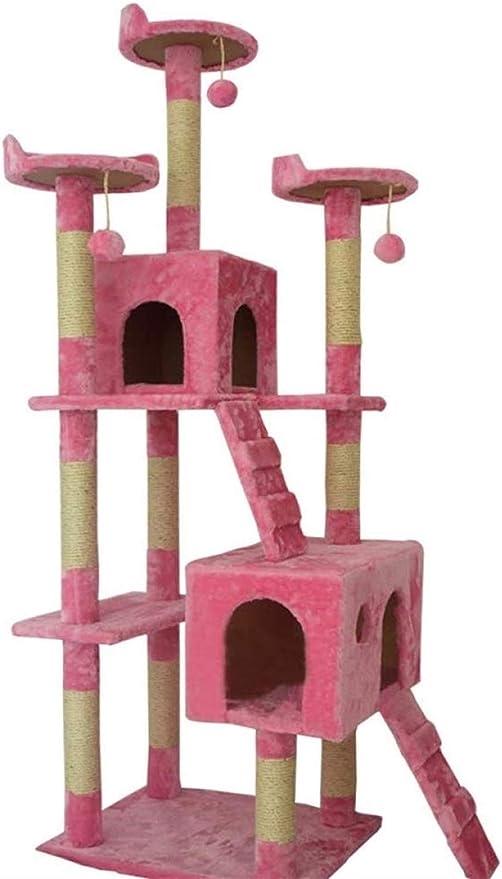 Arbre à chat Aparador para Gatos con escaleras, diseño de Gato, Estable, Envuelto en la Columna, Salto Plano, sisal para Gatos: Amazon.es: Hogar