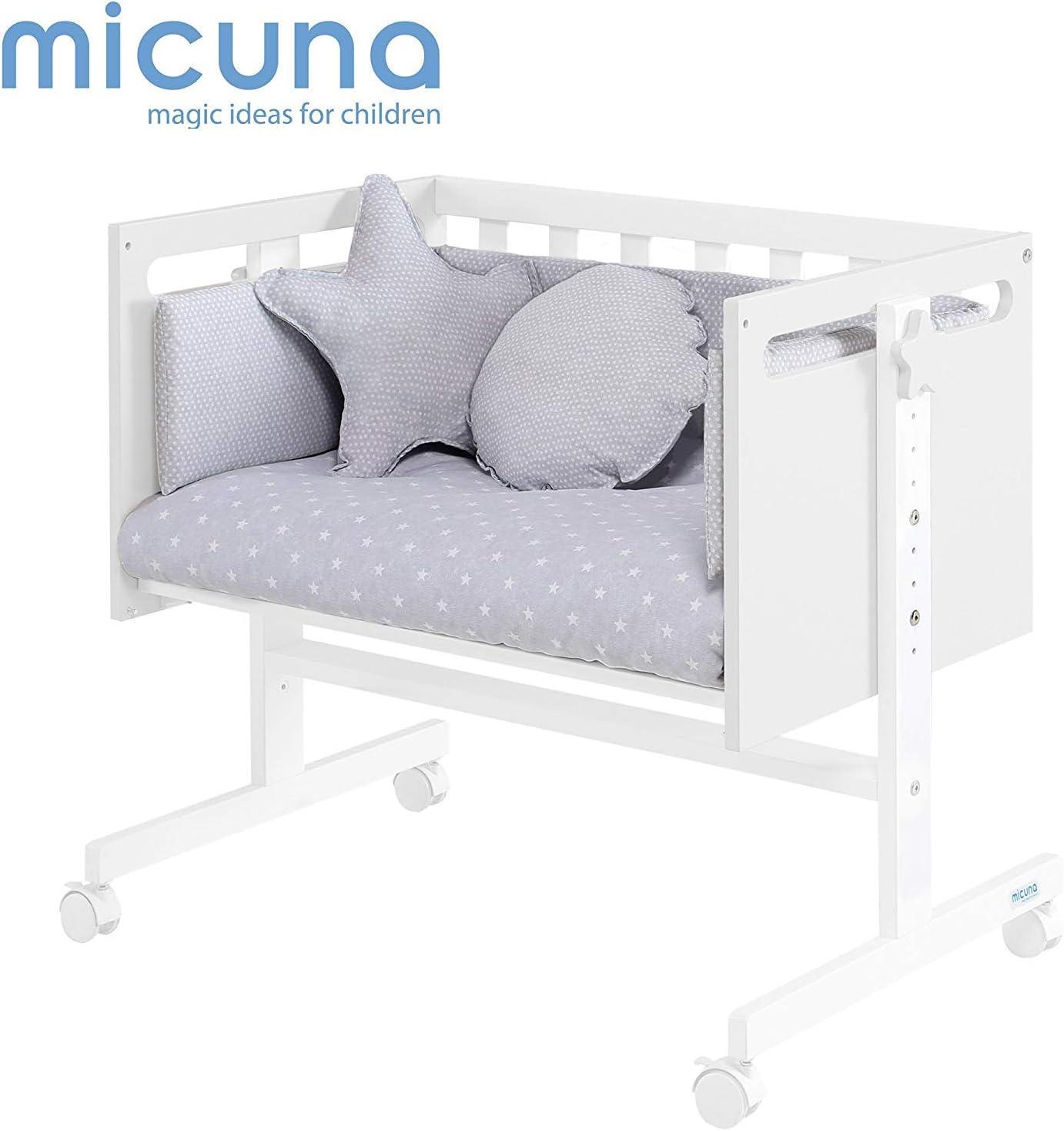 Micuna You & Me - Minicuna colecho, unisex, color blanco