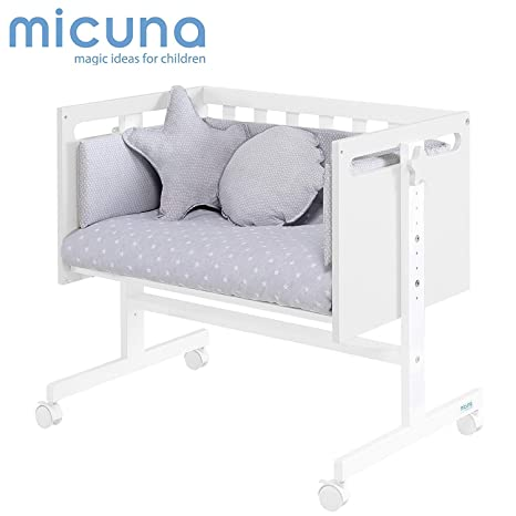 Micuna You & Me - Minicuna colecho, unisex, color blanco: Amazon ...