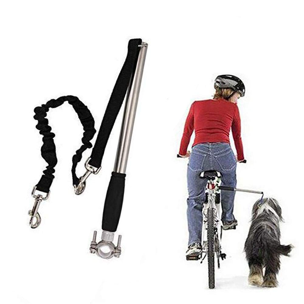 FXQIN Pet Dog Bicycle Leash - Hands Free Dog Bicycle Exerciser Leash, Adjustable Length, for Small to Large Dogs