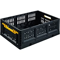 Stack-On FCB-2316 Collapsible Stackable Folding Crate (Black)