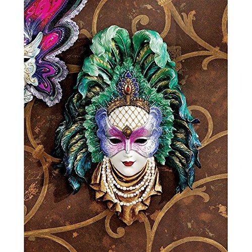 Design Toscano Maidens of Mardi Peacock Princess Gras Wall Mask Sculpture from Design Toscano