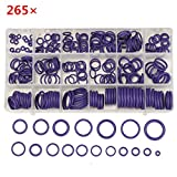 Rubber O Ring - Rubber O Ring Kit - 265Pcs R22/R134a Air Conditioning O-Ring Rubber Rings Waterproof Washer (Rubber O Ring Assortment)
