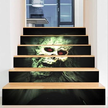 SADDPA Halloween 3D Pegatinas de Escalera Impermeable Autoadhesivo Pegatina de Pared Vinilo Adhesivo Decorativo para Cuartos, Dormitorio,Cocina, 6Pcs/Set: Amazon.es: Hogar