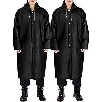 PAUL JONES Portable Raincoat Reusable Rain Poncho Hooded Rain Jacket for Men and Women
