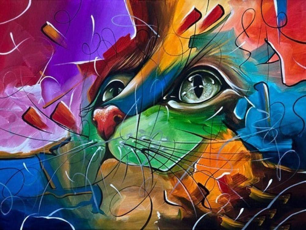 5D Diy Diamante Pintura Gato Bordado Animal Imagen Mosaico ...