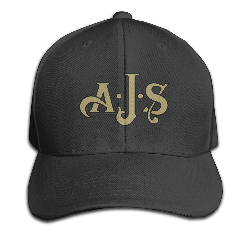 Ajs Hats Adjustable Black Baseball Cap