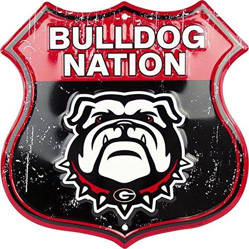 (HangTime Bulldog Nation - University of Georgia Route Sign)