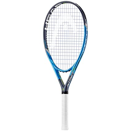 HEAD Graphene Touch Instinct PWR (Power) Extended/Oversized 16x19 Blue/Black/Lime Tennis Racquet Strung with Custom String Colors (Best Racket for Power and ...
