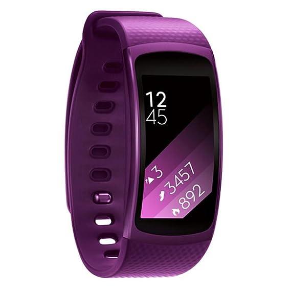 alonea® Lujo silicona reloj correa de reemplazo banda para Samsung Gear Fit 2 sm-r360 pulsera: Amazon.es: Relojes