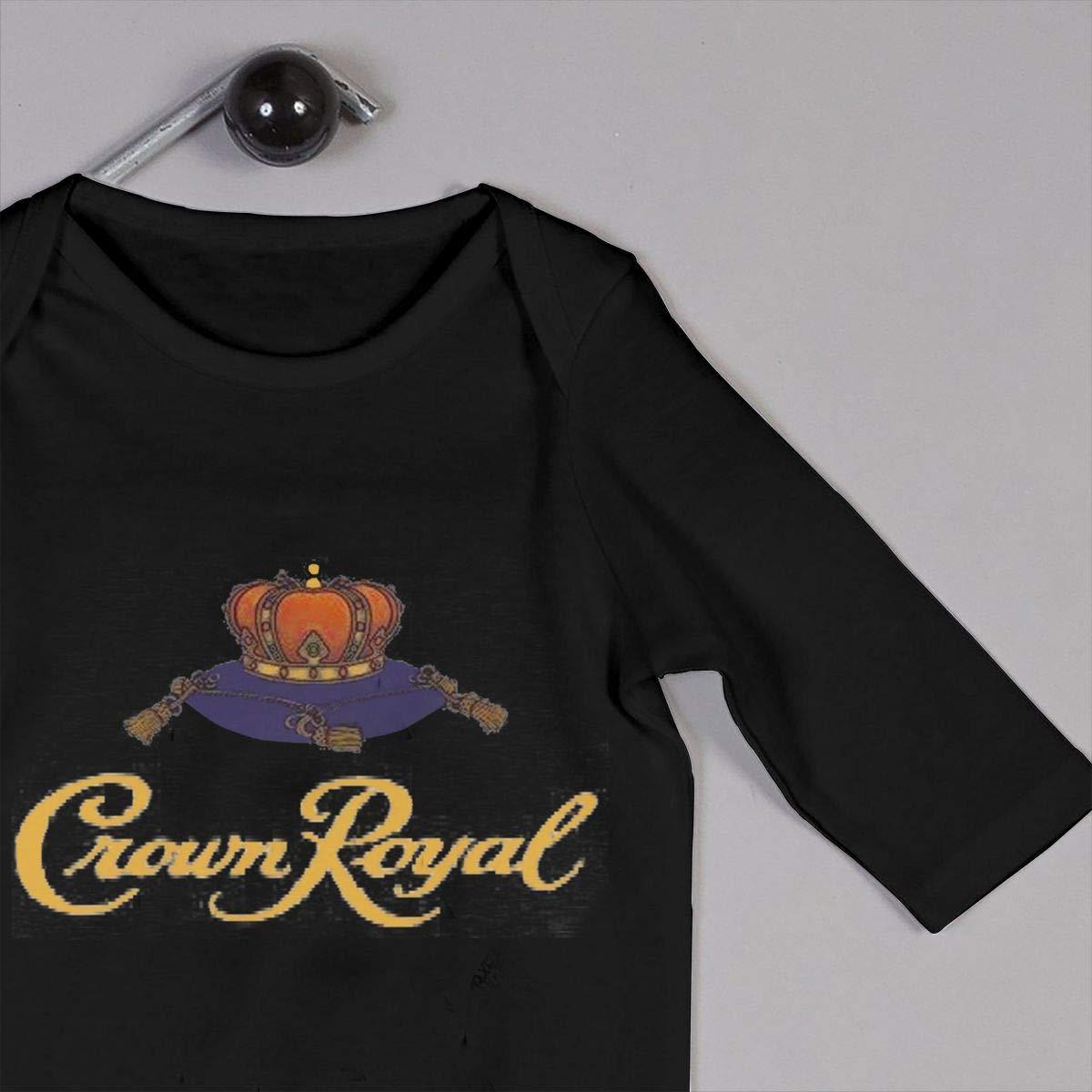 Fional Infant Long Sleeve Romper Crown Royal Newborn Babys 0-24M Organic Cotton Jumpsuit Outfit