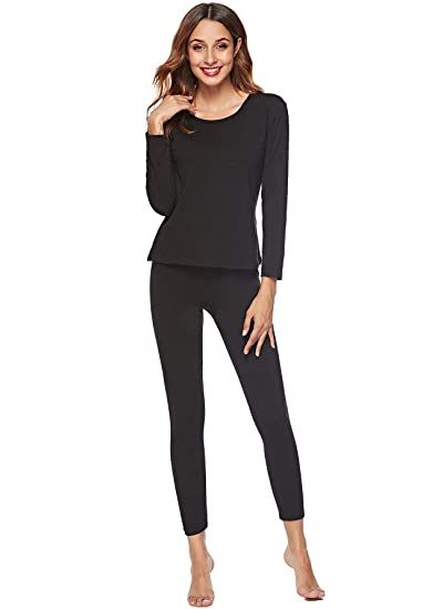 Image Unavailable. Image not available for. Color  EFINNY Thermal Underwear  for Women Lady Long Johns Set Top and ... f18de7416