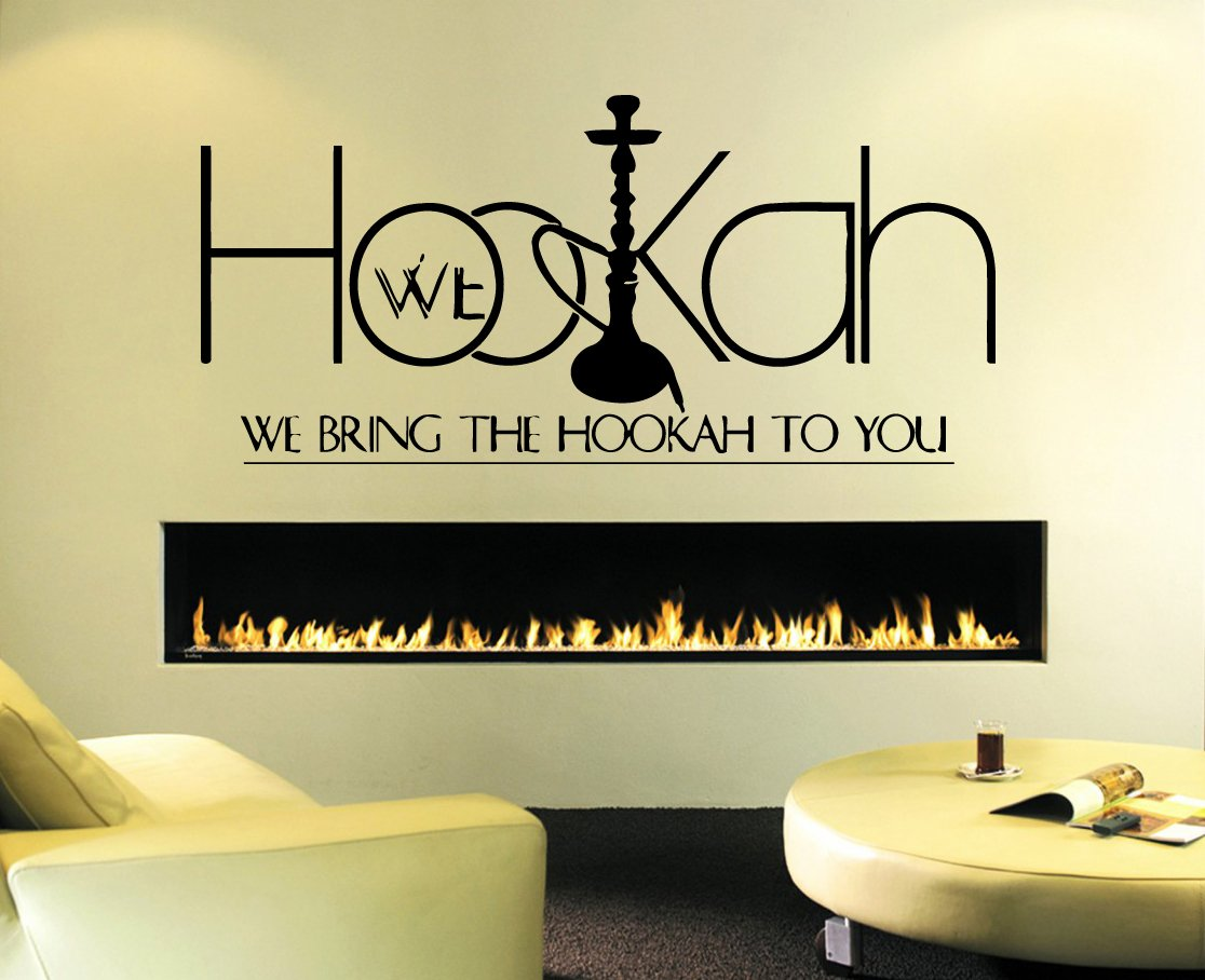 Amazon.com: Wall Decal Sticker Bedroom Hookah Lounge Logo Hookah Bar ...