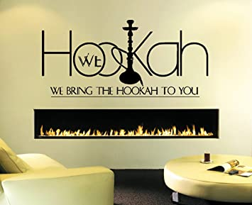Amazoncom Wall Decal Sticker Bedroom Hookah Lounge Logo Hookah Bar