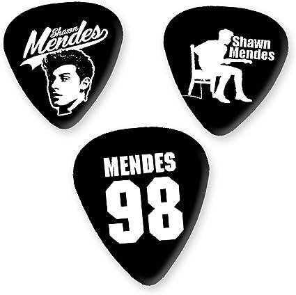 Shawn Mendes 3 x Guitarra Picken Plectrums bweg: Amazon.es ...