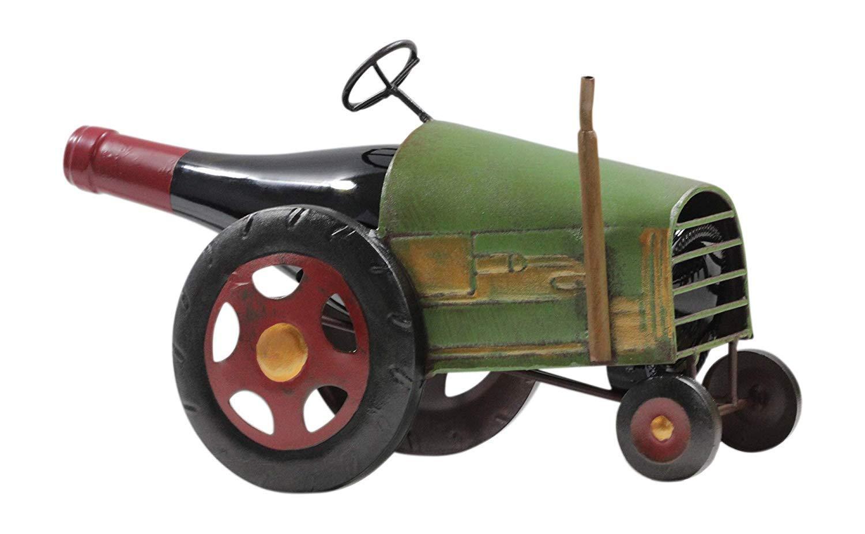 Made Easy Kit Wine Rack Bottle Holder Sculpture - Premium Setting Home Statute Metal Tabletop Decor from (Tractor Truck)