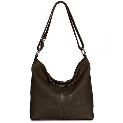Caspar Damen Ledertasche Handtasche Umhange Tasche Schultertasche