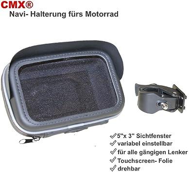 Motorrad Halterung Und Wasserdichte Tasche Für Navigationssystem 5 Zoll 12 7cm Auto