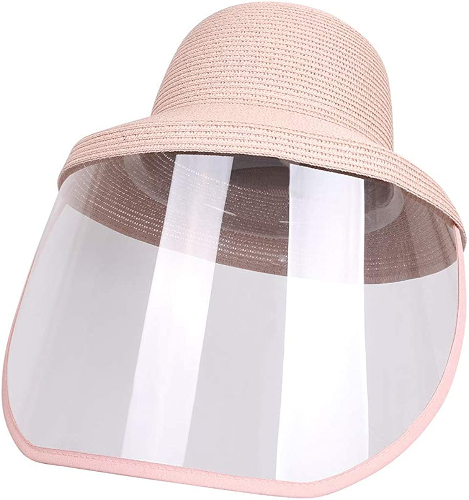 Anti Fog Saliva Anti Spitting Protective Straw Hat Sun Cap Dustproof Cover Outdoor Safety Protection Face Shield Accessories Women