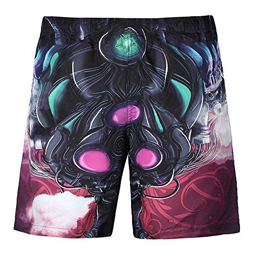 iZHH Men's Summer Casual Plus Size Car 3D Printed Beach Shorts Pants (Directoire 3 Light)