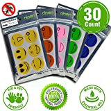 Mosquito Repellent Patches: 30 Count, Easy to Use, Can be placed on Clothes, Bed, Desk or Anywhere you like. Mosquito Repellent Patch Non-Toxic DEET Free - One Patch Works for 36-72 Hrs 100% Natural