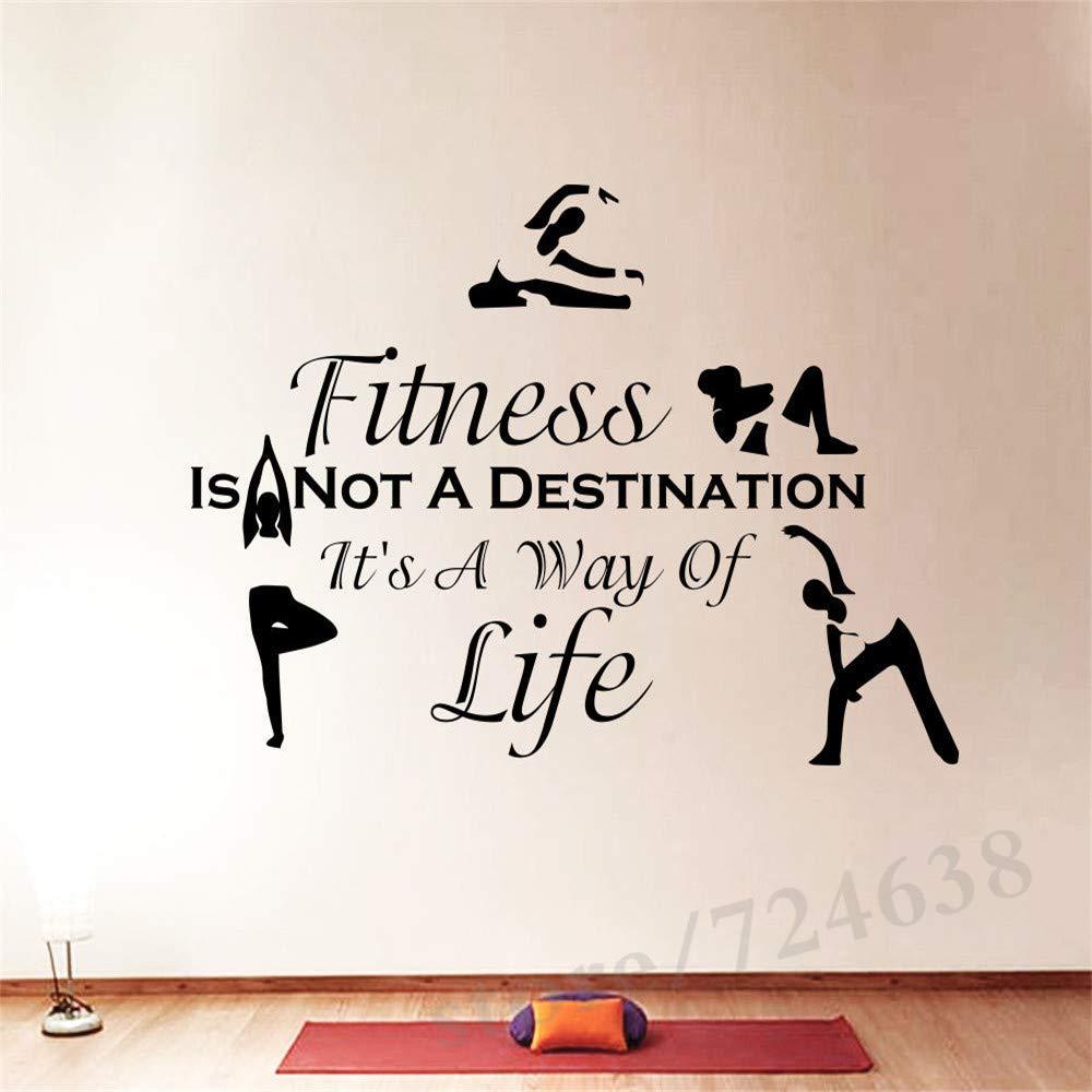 un nuovo muro decalcomanie citazioni sport fitness non esercita la palestra di arredamento da muro adesivi per fitness 44x70cm