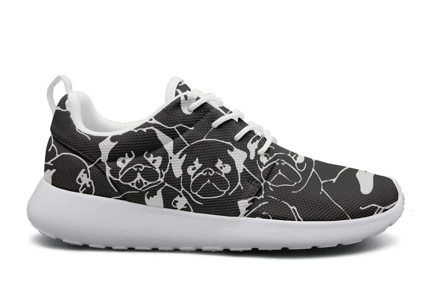 ipdterty Wear-Resistant Sports Sneaker Pug Dog Life Mens Funny Track Running Shoes