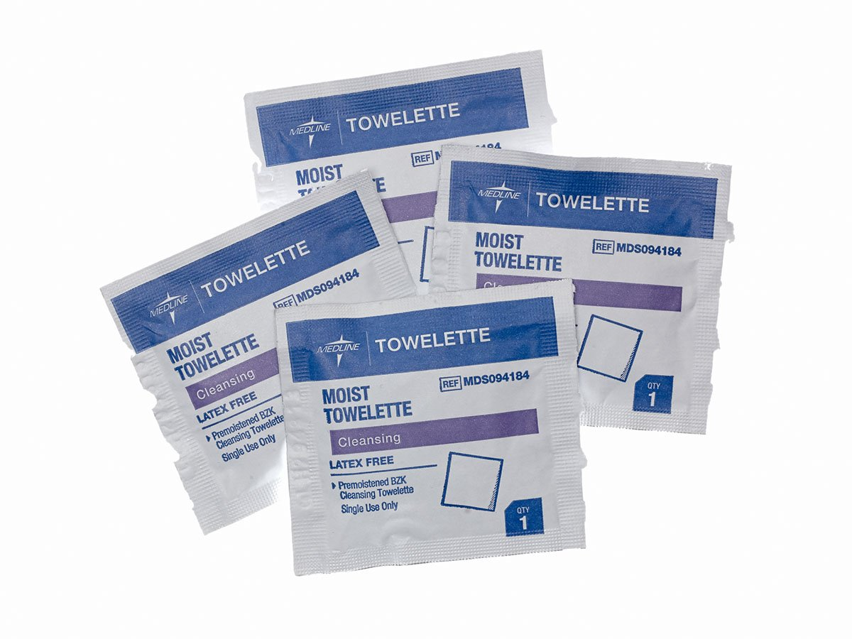 Medline MDS094184 Latex Free Antiseptic Towelette (Pack of 1000) by Medline