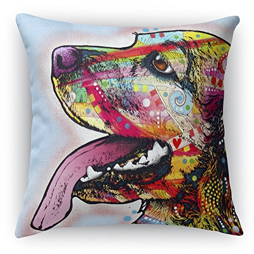 Cocker Spaniel Printed on a 16x16 inch Square Pillow Double-Sided Dean Russo