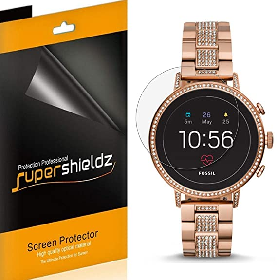 [6-Pack] Supershieldz for Fossil Q Venture HR (Gen 4) Screen Protector, High Definition Clear Shield